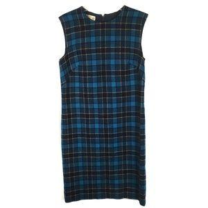 8c8b8c86697b Pendleton Blue Green Plaid Virgin Wool Dress Sz 12